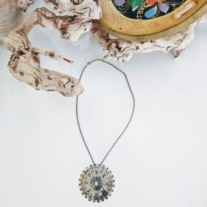 Bohemian Aztec Necklace Silver pendant